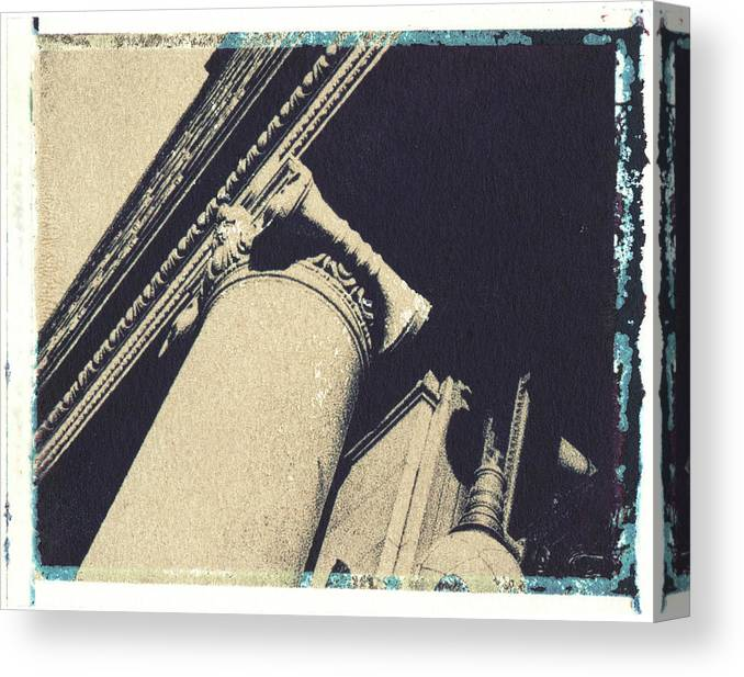 Polaroid Transfer Canvas Print featuring the photograph Ionic by Bernice Williams