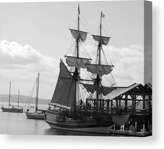 Schooner Canvas Print featuring the photograph Lady Washington by Sonja Anderson