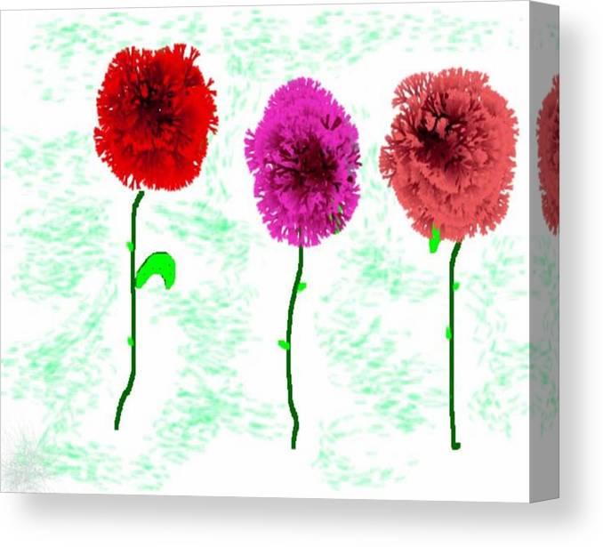Flowers Canvas Print featuring the digital art Language Of Flowers by Dr Loifer Vladimir