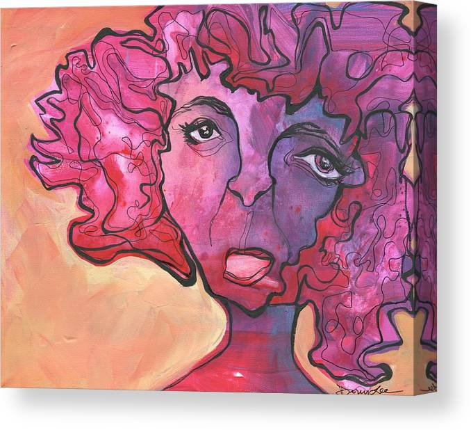 Portrait Canvas Print featuring the painting Melting Point by Darcy Lee Saxton