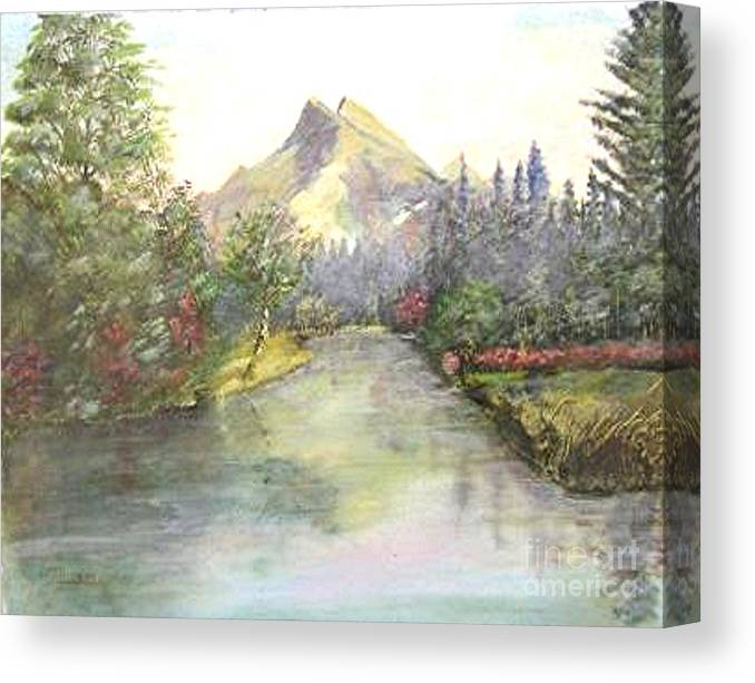 Landscape Painting Canvas Print featuring the painting Mt Bundle by Nicholas Minniti