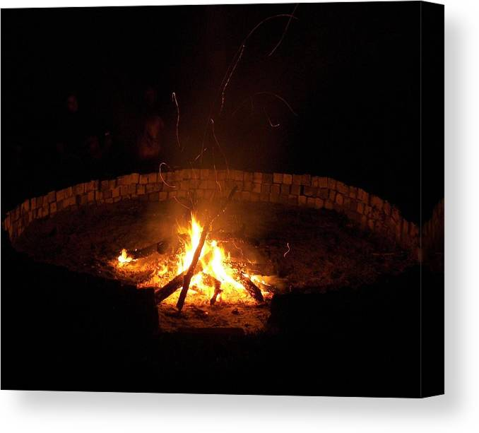 Fire Circle Canvas Print featuring the photograph Night Done Right by Charles Peck