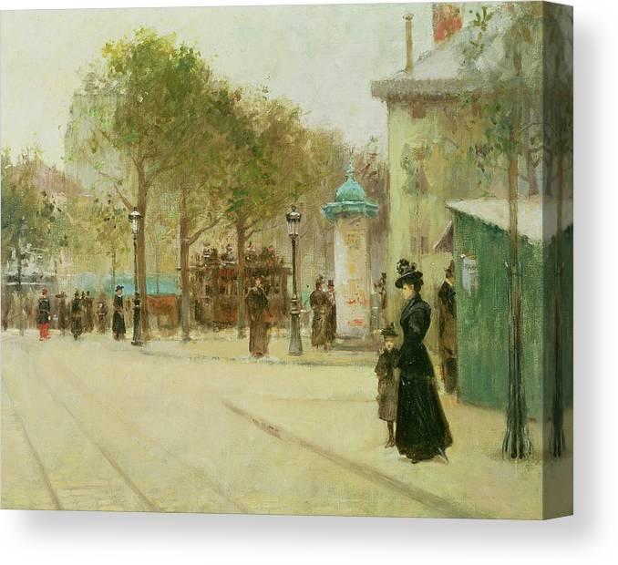 Paris Canvas Print featuring the painting Paris by Paul Cornoyer