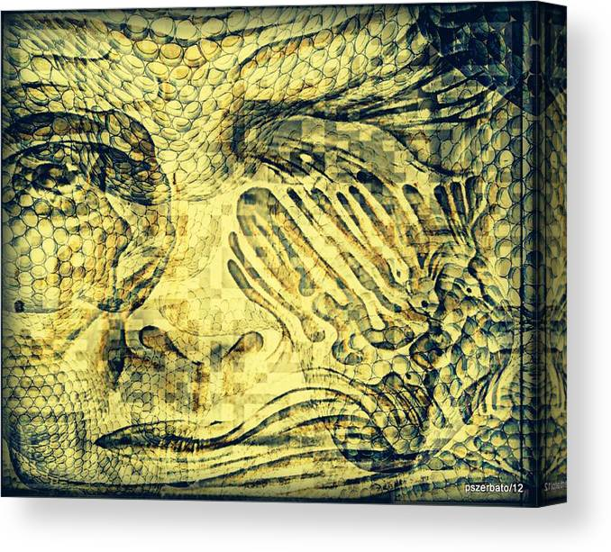 Revealing Thoughts Canvas Print featuring the digital art Revealing The Thoughts by Paulo Zerbato