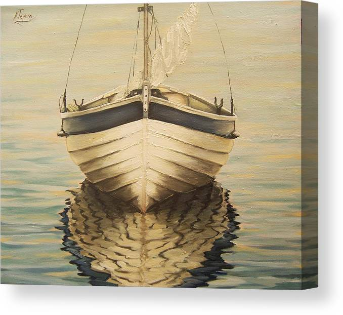 Seascape Canvas Print featuring the painting Serenity by Natalia Tejera