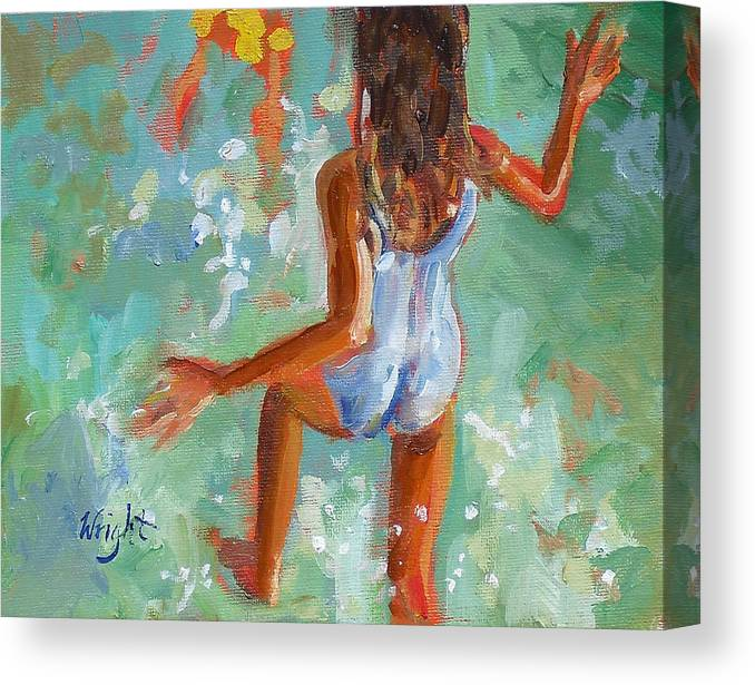 Summer Canvas Print featuring the painting Summer Splash by Molly Wright
