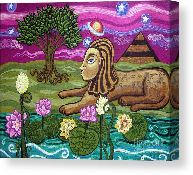 Egypt Canvas Print featuring the painting The Sphinx by Genevieve Esson