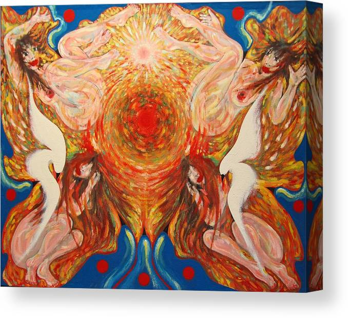 Imagination Canvas Print featuring the painting Whirl by Wojtek Kowalski