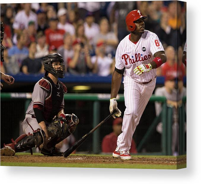 People Canvas Print featuring the photograph Ryan Howard by Mitchell Leff