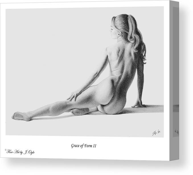 Pastel Canvas Print featuring the painting Grace Of Form 2  Print Only by Joseph Ogle