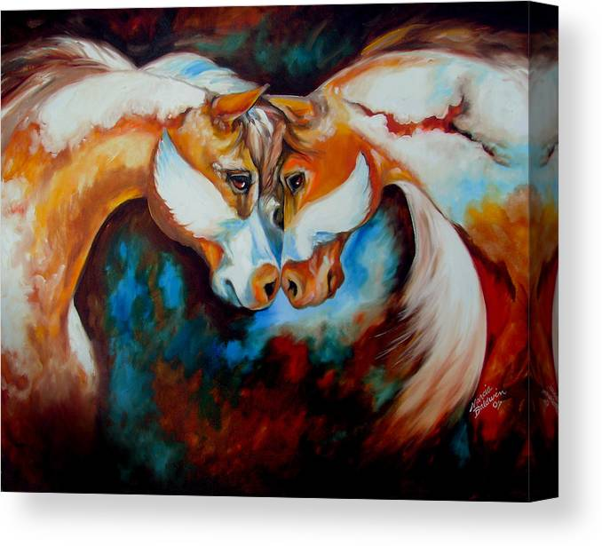 Horse Canvas Print featuring the painting Spirit Eagle 2007 by Marcia Baldwin