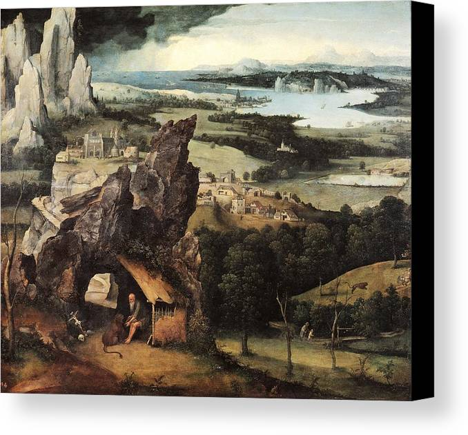 Horizontal Canvas Print featuring the photograph Patinir, Joachim 1480-1524. Landscape by Everett