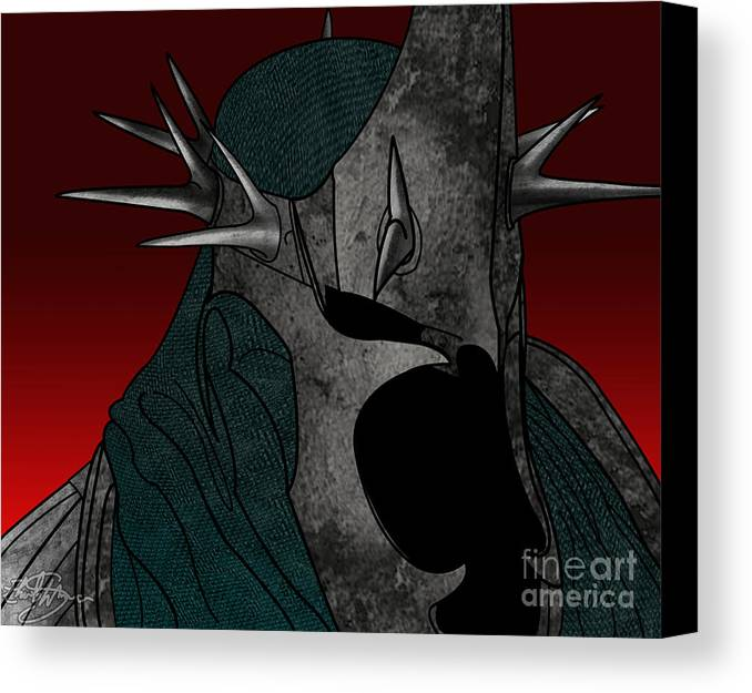 The Lord Of The Rings Canvas Print featuring the digital art Black Rider Lotr by Ehud Shomron