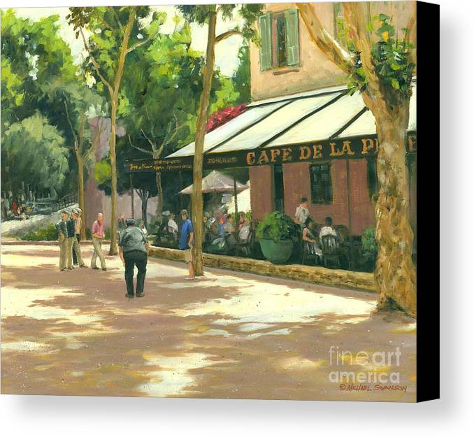 Boule Canvas Print featuring the painting Boule Ball by Michael Swanson
