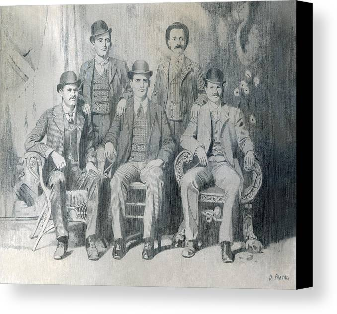 Pencil Drawing Canvas Print featuring the drawing The Wild Bunch by Dean Pratali
