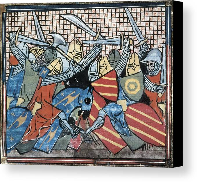 Horizontal Canvas Print featuring the photograph Danish Defeat. Illustration by Everett