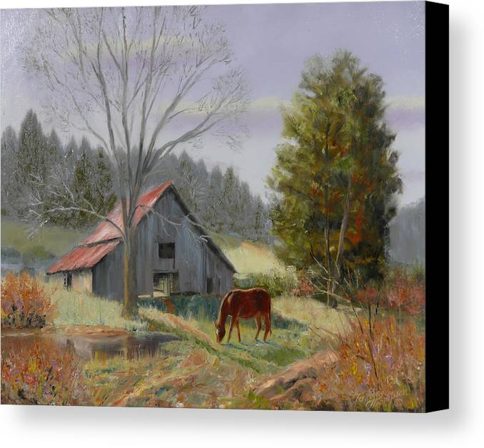 Landscape Canvas Print featuring the painting Dream Acres by Tommy Thompson