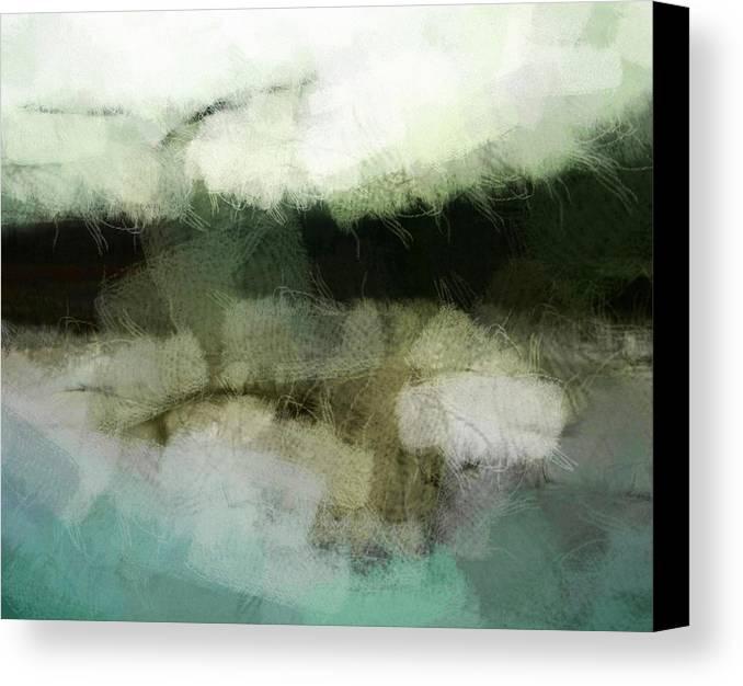 Landscape Canvas Print featuring the digital art Early Morning Flight by Gun Legler