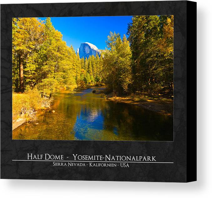 Half Dome Canvas Print featuring the photograph Half Dome by Maik Blume