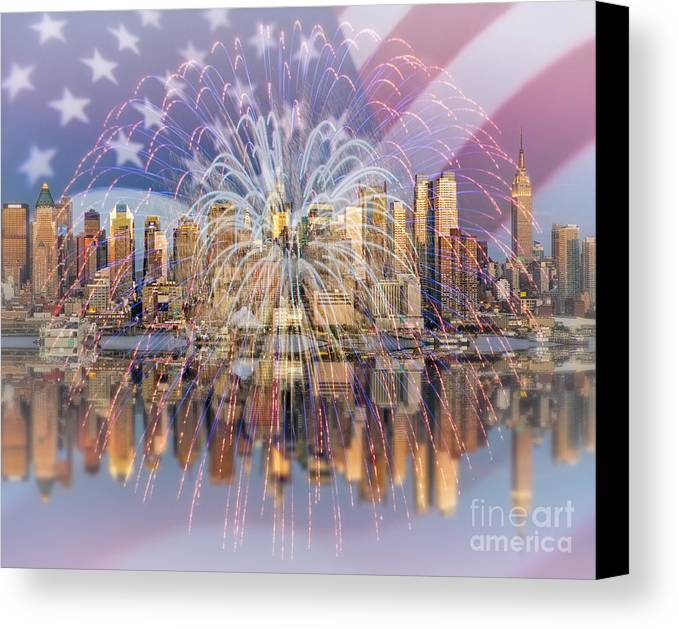 America Canvas Print featuring the photograph Happy Birthday America by Susan Candelario
