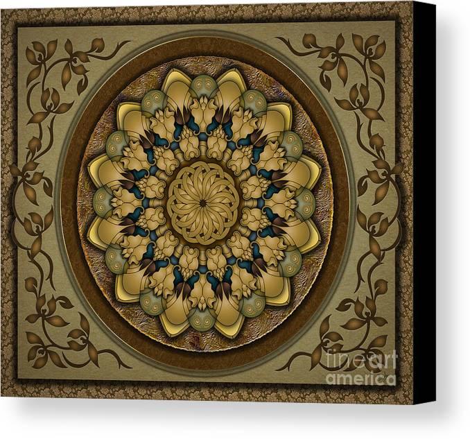 Mandala Canvas Print featuring the digital art Mandala Earth Shell Sp by Bedros Awak