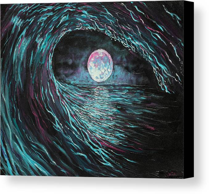 Ocean Canvas Print featuring the painting This Time Imperfect by Joel Tesch