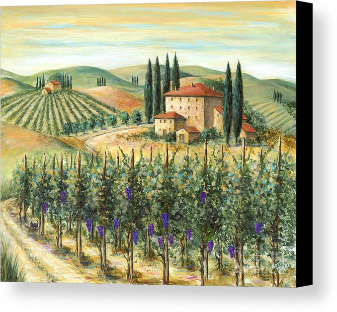 Tuscan Vineyard And Villa Canvas Print Canvas Art By