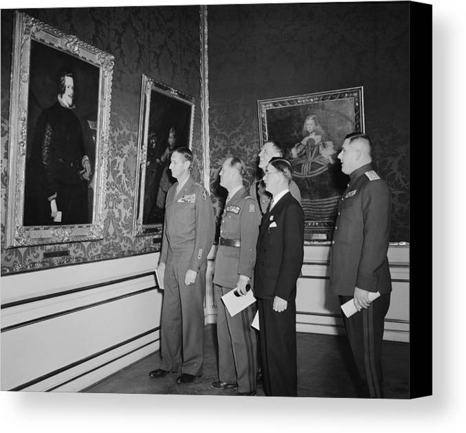 History Canvas Print featuring the photograph Velazquez Painting Returned To Austria by Everett