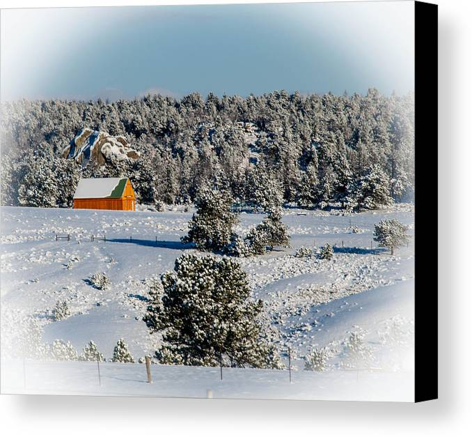 Snow Canvas Print featuring the photograph Winter Wonderland by Cathy Smith