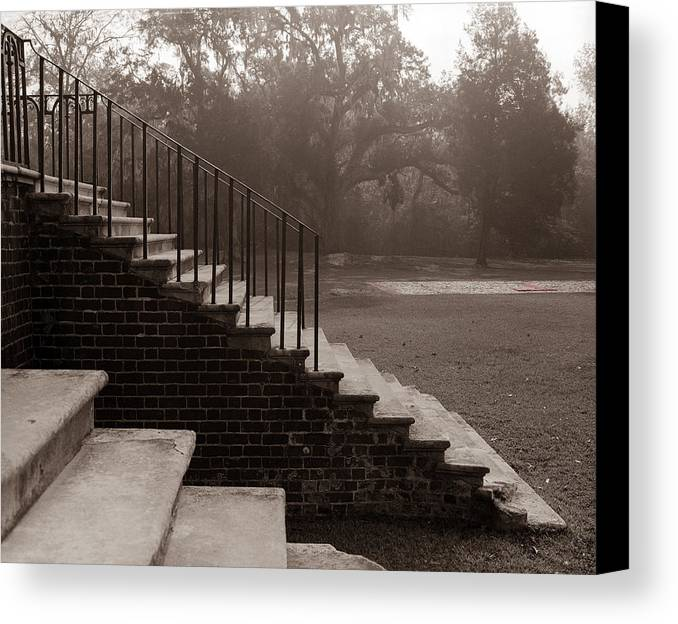 Steps Canvas Print featuring the photograph 28 Up And Down Steps by Jan W Faul