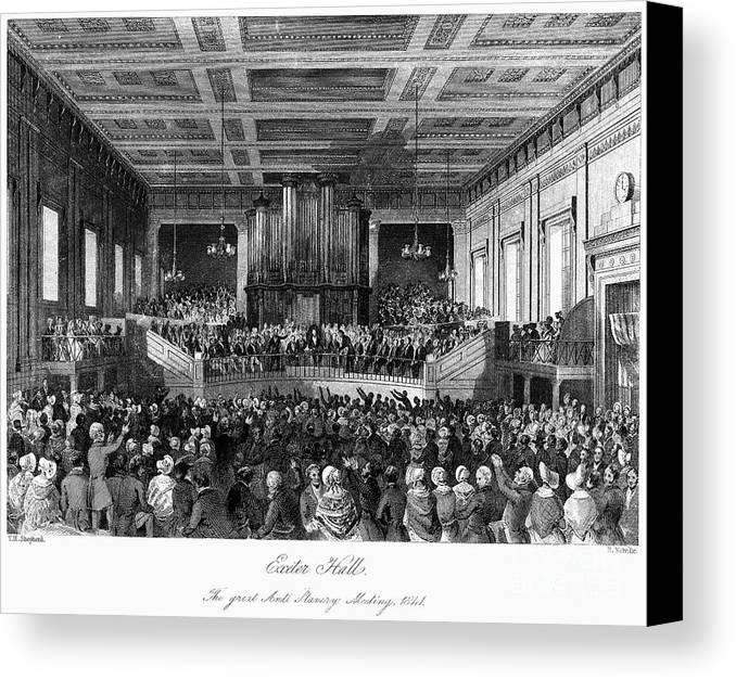1840 Canvas Print featuring the photograph Abolition Convention, 1840 by Granger