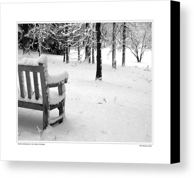 Winter Canvas Print featuring the photograph Nichols Arboretum #2 by Phil Perkins