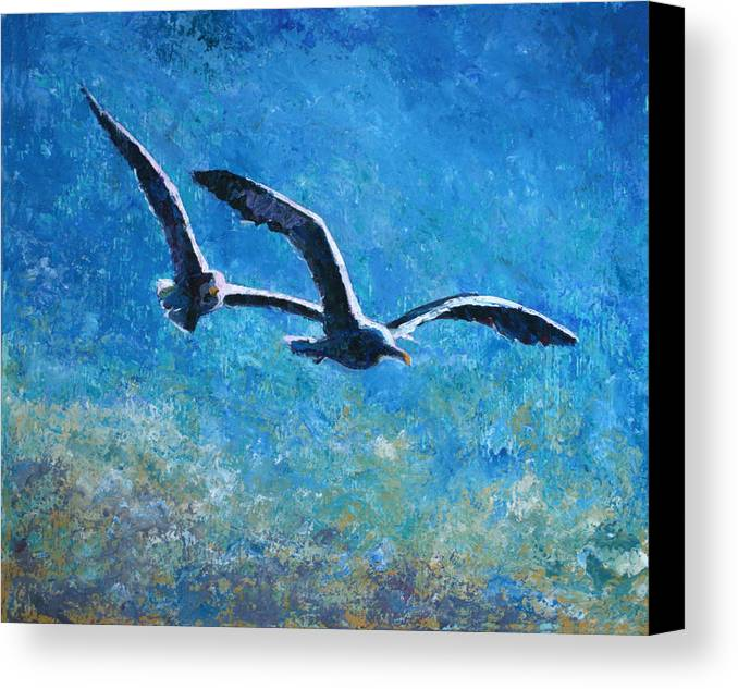 Sea Canvas Print featuring the painting The Two Of Us by Graham Brock