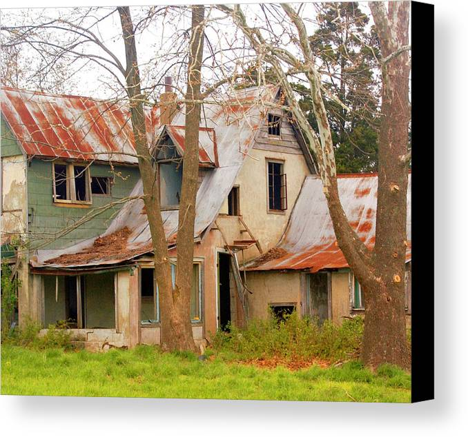 Ozarks Canvas Print featuring the photograph Haunted House by Marty Koch