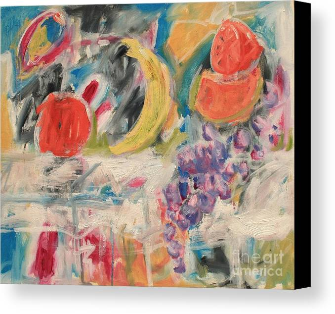 Stil Life Canvas Print featuring the painting Still Life With Fruit by Michael Henderson