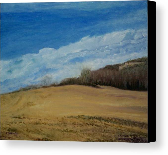 Landscape Canvas Print featuring the painting Shakertown 2 by Karen Thompson