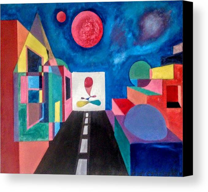 Semi Abstract Canvas Print featuring the painting Here And Now by Andrey Arnoldov