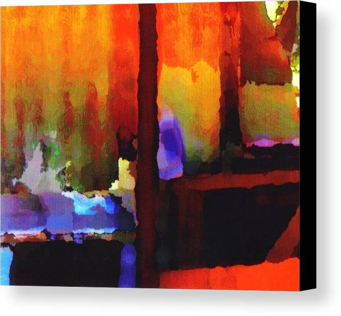 Canvas Print featuring the digital art abstract from Clothesline by Danielle Stephenson