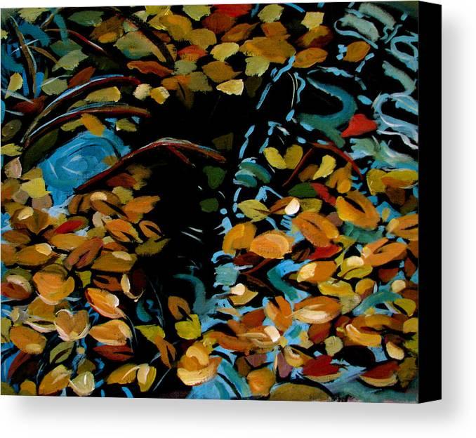 Autumn Canvas Print featuring the painting Autumn by Art Nomad Sandra Hansen