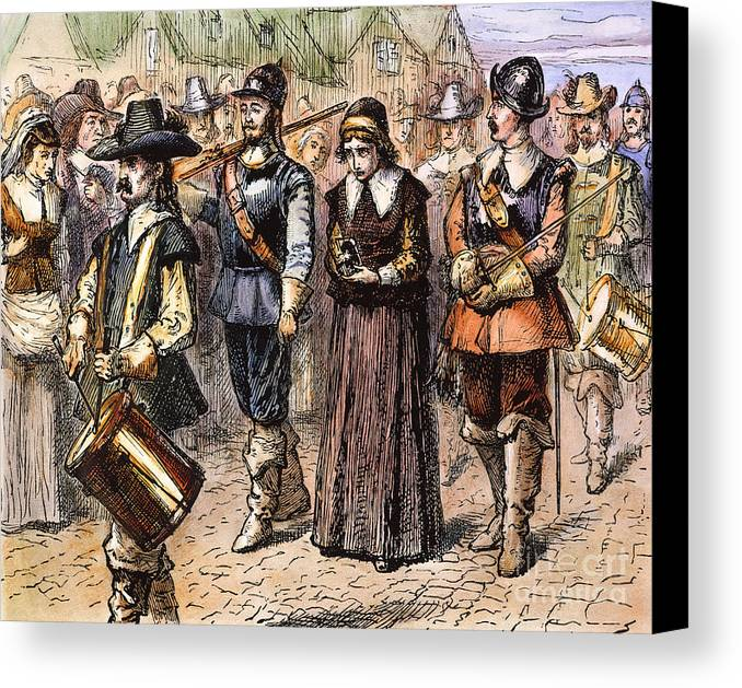 1660 Canvas Print featuring the photograph Boston: Mary Dyer, 1660 by Granger