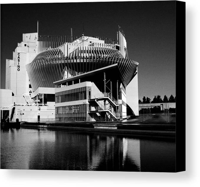 North America Canvas Print featuring the photograph Casino Montreal by Juergen Weiss