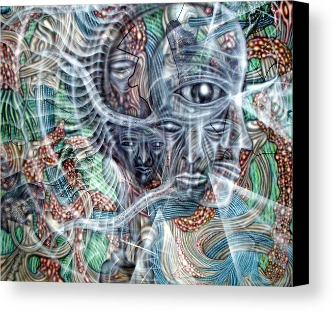 Surreal Canvas Print featuring the painting Circuitry II by Leigh Odom
