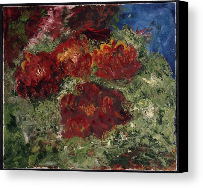 Canvas Print featuring the painting Flotter by Dominique Boutaud