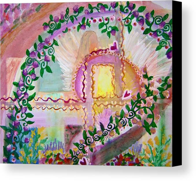 Christian Canvas Print featuring the painting Garden Of Hope by Cassandra Donnelly
