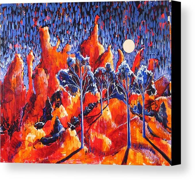 Landscape Canvas Print featuring the painting Grove by Rollin Kocsis