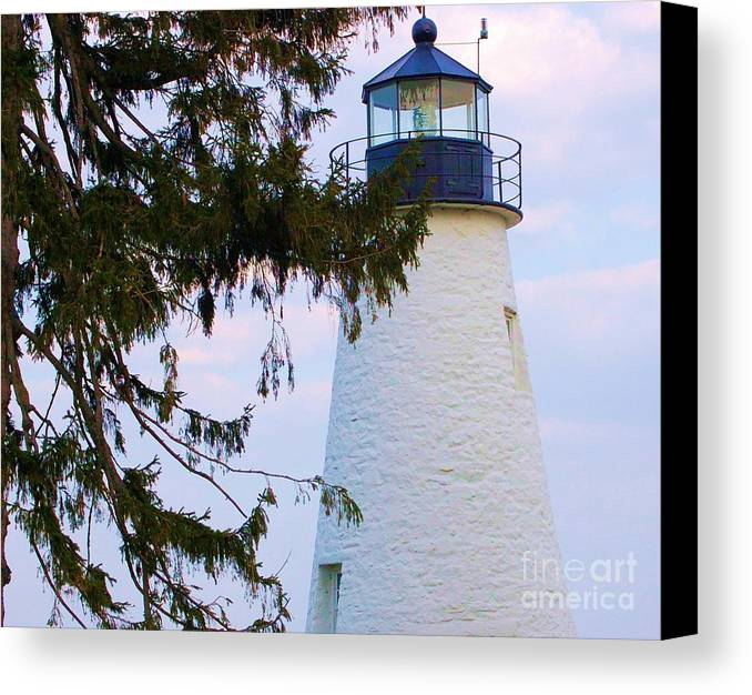 Lighthouse Canvas Print featuring the photograph Havre De Grace Lighthouse by Debbi Granruth