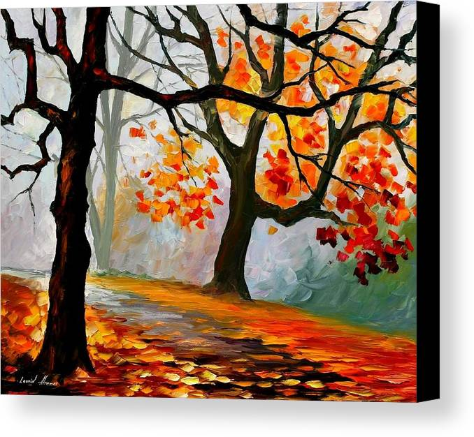 Landscape Canvas Print featuring the painting Interplacement by Leonid Afremov