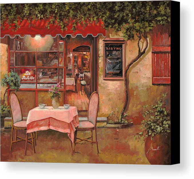 Caffe Canvas Print featuring the painting La Palette by Guido Borelli