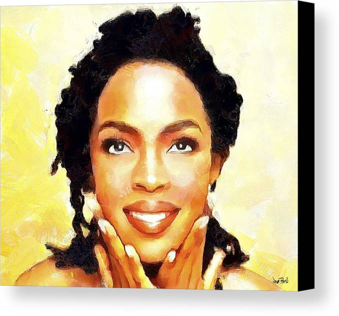 Lauryn Hill Canvas Print featuring the painting Lauryn Hill by Wayne Pascall