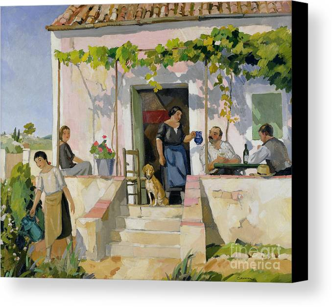 Mazet Canvas Print featuring the painting Le Mazet by Armand Coussens